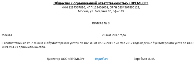 Возложение обязанностей главного бухгалтера на генерального директора в РФ: правовые особенности