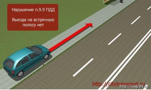Выезд на встречную полосу на перекрестке. Когда разрешен въезд на встречную полосу?