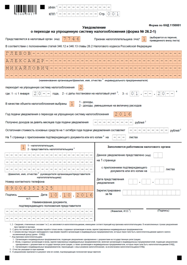 Образец заявления на УСН в РФ: правовые особенности
