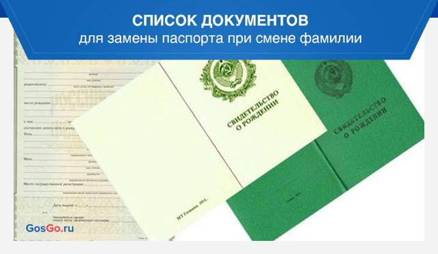 Документы на замену паспорта после замужества, что нужно подготовить для оформления и в какие сроки