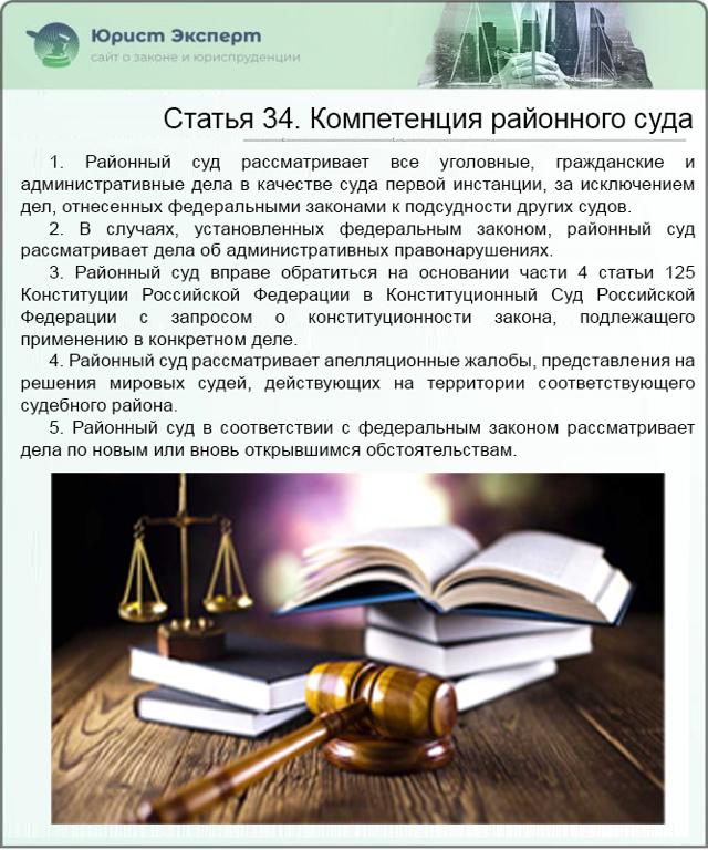 какие споры рассматривает районный суд